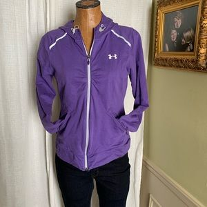 Purple Under Armour Fitted Storm Jacket Sz M